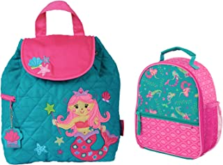 Stephen Joseph Girls Quilted Mermaid Backpack and Lunch Box for Kids