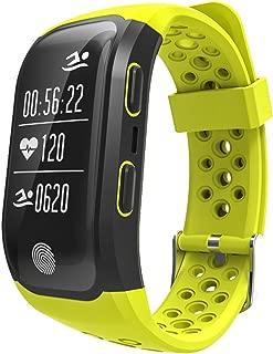 GPS Sports Watch Heart Rate Monitor Waterproof Fitness Tracker Bluetooth Smart Bracelet Black