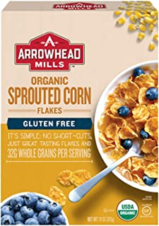 Arrowhead Mills Sprouted Corn Flakes Organic Cereal, 10 Ounce Box (Pack of 6)