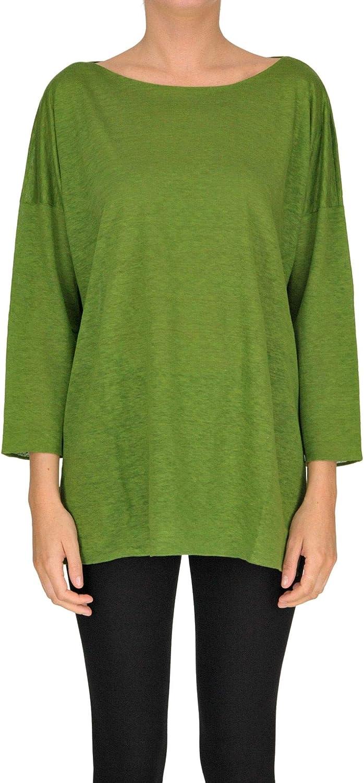 Shirt CZero Women's MCGLMGP000005039E Green Linen Sweater