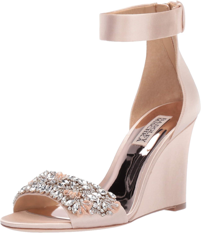 Badgley Mischka Womens Lauren Wedge Sandal