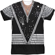 Kiss Spaceman Costume Unisex Adult Front Only Sublimated T Shirt for Men and Women