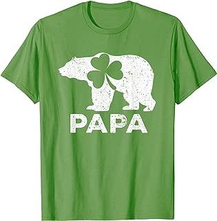 Papa Bear Shamrock Green Shirt St Patrick's Day Ideas