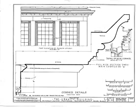 Historic Pictoric Structural Drawing HABS RI,4-PROV,33- (Sheet 18 of 20) - Granite Block, 6-18 Market Square, Providence, Providence County, RI 55in x 44in