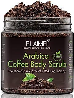 Gommage au café naturel avec gommage corporel au café biologique, meilleur traitement contre l'acné, la cellulite et les v...