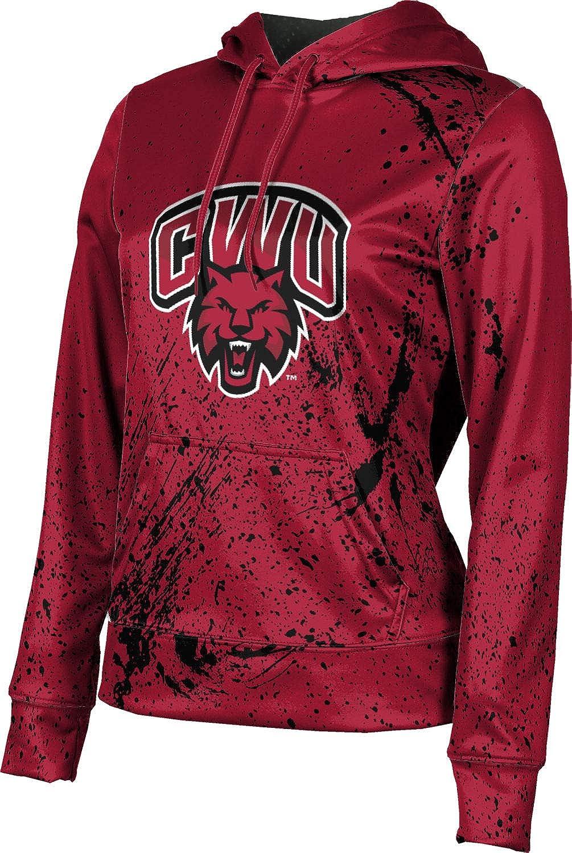 ProSphere Central Washington University Girls' Pullover Hoodie, School Spirit Sweatshirt (Splatter)