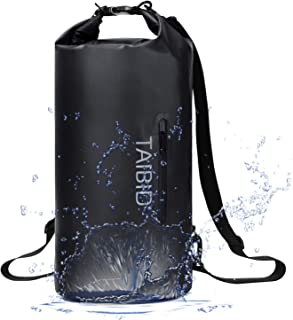 TAIBID Waterproof Dry Bag, 10L/20L/30L Dry Bags for Boating Kayaking Swimming with Adjustable Shoulder Strap for Camping Snorkeling Beach Hiking Water Sports