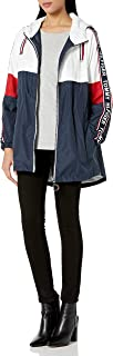 womens Anorak Jacket With Logo Sleeve Taping