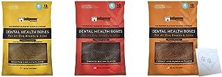 Indigenous Dental Health Bones Variety Bundle: Bacon, Roasted Chicken, Carrot Pumpkin, (17 Ounces Each, 51 Ounces Total)
