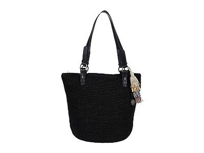 The Sak Silverwood Crochet Shopper (Black) Handbags