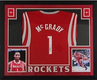 Tracy McGrady Autographed Houston Rockets Signed Reebok Basketball Framed Jersey PSA DNA COA