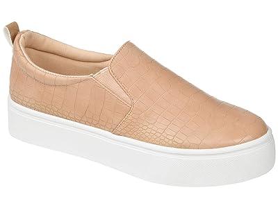 Journee Collection Comfort Foamtm Patrice Platform Sneaker (Tan) Women