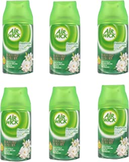 Lot de 6 recharges Air Wick Jasmin & fleurs blanches Touch of Luxory Fresh Matic Max 250 ml