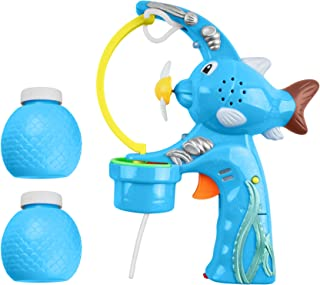 CoolToys Mega Bubble Shooter Gun w/ Extra-Large Bubble Action   Exciting Sound Effects and Catchy Music   Bubble Solution Fluid Included   Durable Light Up Bubble Blaster   Great Summer Outdoor Toy