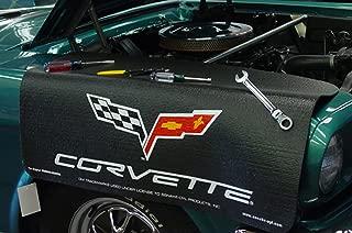 Chevrolet Corvette C6 Logo Black Grip Fender Cover