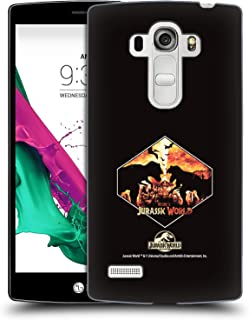 Official Jurassic World T-Rex VS. Indoraptor Vector Art Hard Back Case Compatible for LG G4 Beat / G4s / G4 s / H735