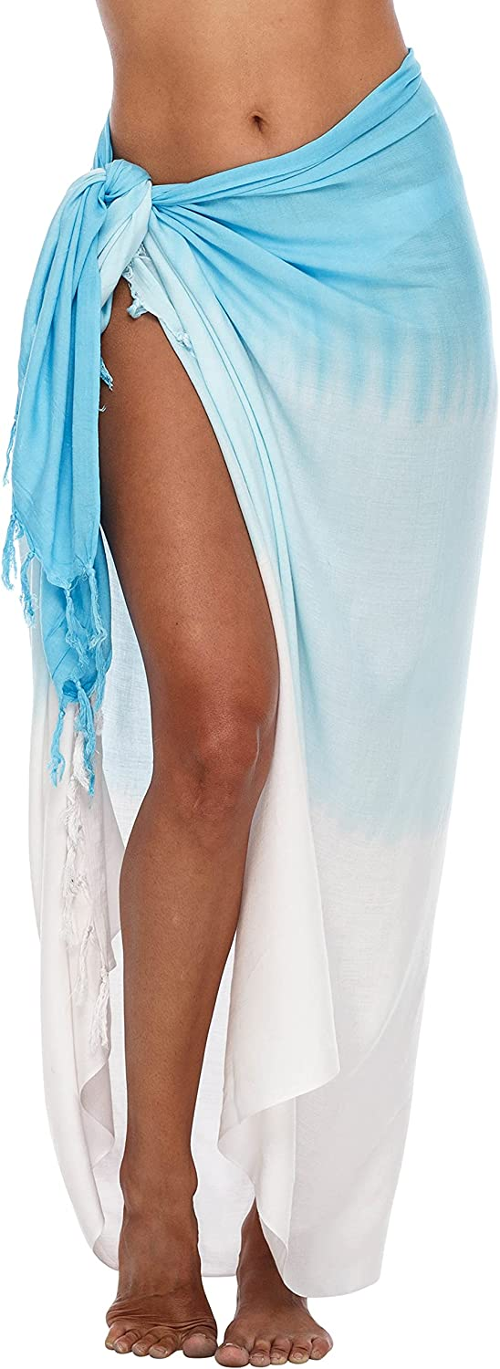 SHU-SHI Womens Beach Cover Up Ombre Sarong Swimsuit Cover-Up Pareo Coverups