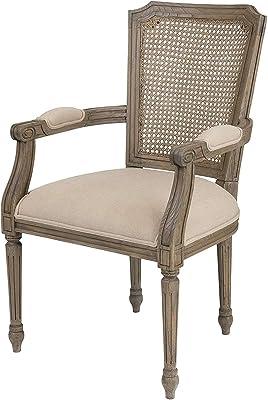 Amazon.com: Lovington tapizado Arm Chair, Madera, Cereza ...