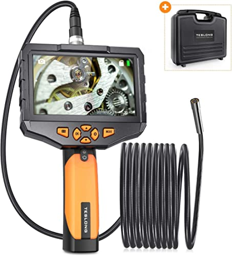 Teslong Industrial Endoscope with 4.5inch IPS Screen, Handhold Waterproof Borescope Inspection Camera with 6 LED Ligh...