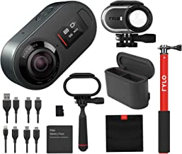 $348 » Rylo 5.8K 360 Degree Video Camera Black, (iPhone +Android) Bundle Kit Dual Battery Charger, 16GB SD Card, Everyday Case, Adventure Case, Invisible Selfie Stick