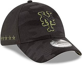 New Era Authentic New York Mets Black 2018 Memorial Day 39THIRTY Flex Hat