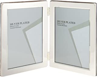 Viceni Silver Plated Double Aperture Picture Photo Frame, 2.5 by 3.5-Inch