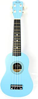 21inch Mike ukulele with bag and strap picks (blue)