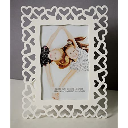 Art Street Painting Mantra Decoralicious White Heart Photo Frame/Wall Hanging for Home Da©cor (1 Pc)