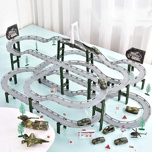 LINGLING-Verfolgen Track Toy Train Track Racing Kinder Toy Boy Geschenk - Milit tützpunkt (Größe   S)