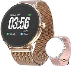 Bebinca Smartwatch Bluetooth5.0 Heart Rate&Blood Pressure Sleep Monitor Calorie Counter Long Battery Life+1Free strap