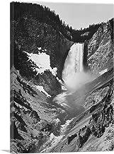 ARTCANVAS Yellowstone Falls - Yellowstone National Park - Wyoming Canvas Art Print by Ansel Adams - 12