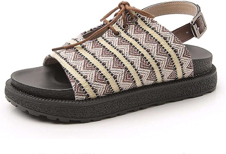 Summer Fashion Gladiator shoes Women Slides Lace Up Rome Retro Lady Casual Peep Toe Plus Size 34-43