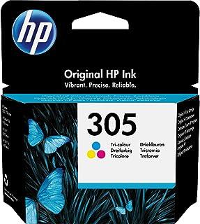 HP 305 3YM60AE Cartuccia Originale, da 100 Pagine, per Stampanti a Getto di Inchiostro HP DeskJet 2700, 2730, 4100, 4134 e...