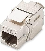 DIGITUS M/ódulo Keystone 8P8C Acoplamiento Cat 6A apantallados en 360 2 Conectores Hembra RJ45 para Paneles de conexi/ón modulares