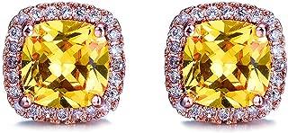 20 Style Mystery Female Rainbow Zircon Stone Earrings 925 Sterling Silver Fil Jewelry Vintage Wedding Stud Earrings For Women
