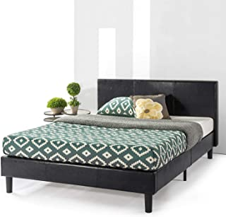 Best Price Mattress Bed Frame with Headboard and Wooden Slats Platform Bed (No Box Spring Needed), Full, Black