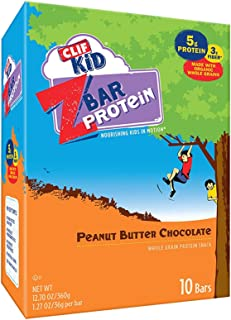 Clif Kid ZBAR - Protein Granola Bars - Peanut Butter Chocolate Flavor (1.27 Ounce Gluten Free Bars, Kids Snacks, 10 Count)