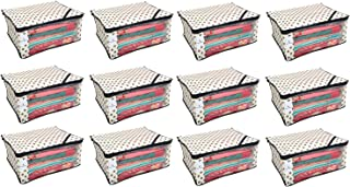 Kuber Industriestm Non Woven Polka Dots Designer Saree Cover Set Of 12 Pcs (Ivory)