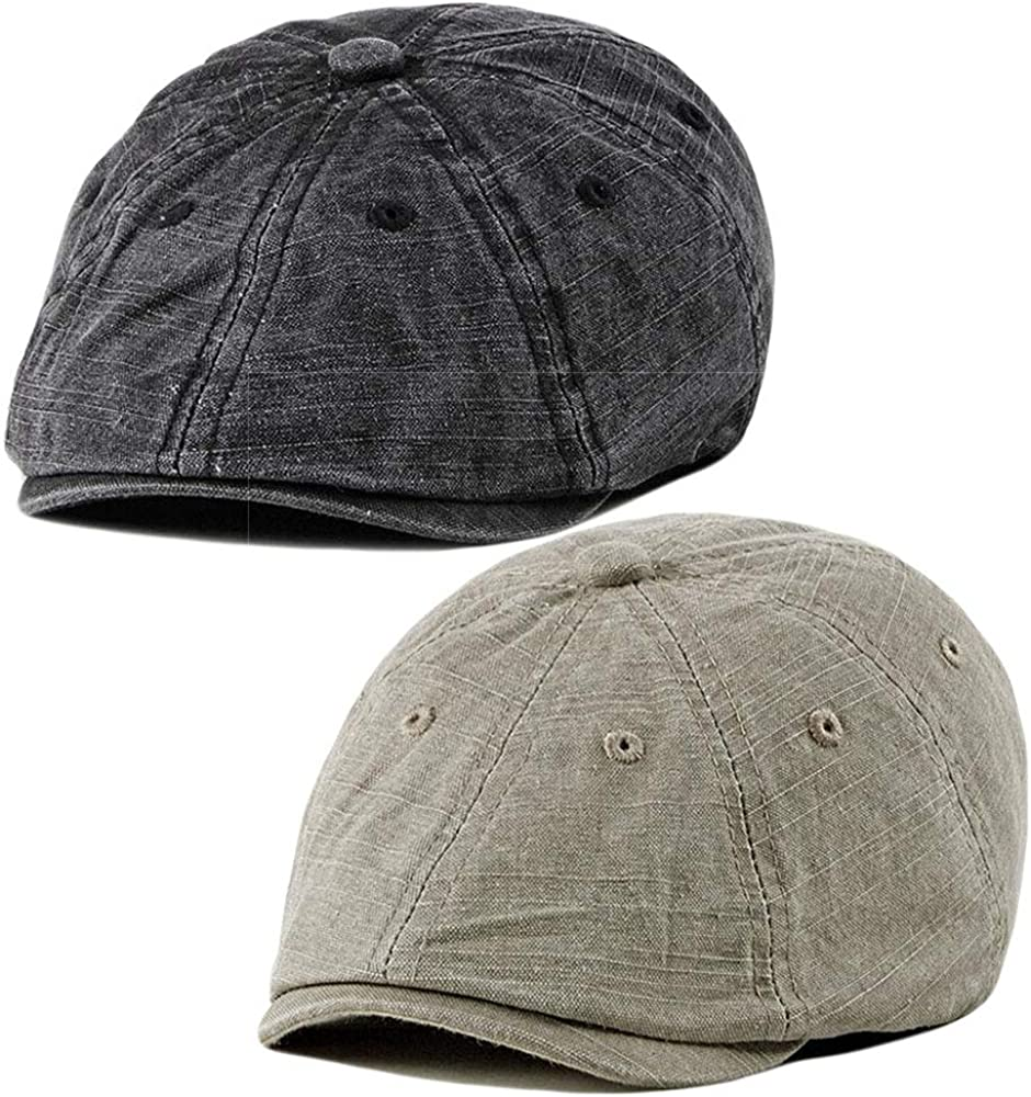 2 Pack Mens Cotton Flat Newsboy Ivy Cabbie Cap Gatsby Popular shop is the lowest price challenge Driving Ha Sale SALE% OFF