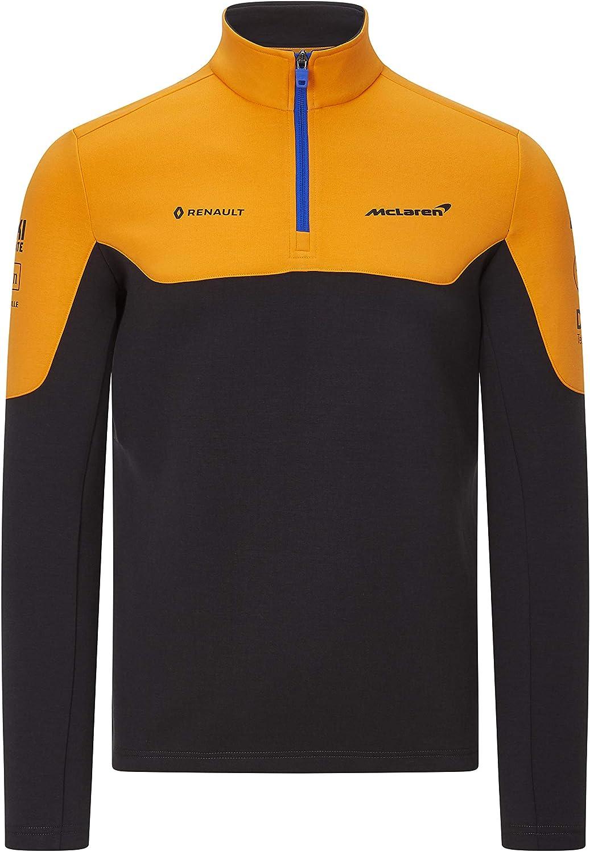 Mclaren Offizielle Formel 1 Merchandise 2020 Kollektion Unisex Team Sweatshirt 1 4 Rits Team Sponsor Logos Orange Anthrazit Größe Xs Bis Xxl Bekleidung