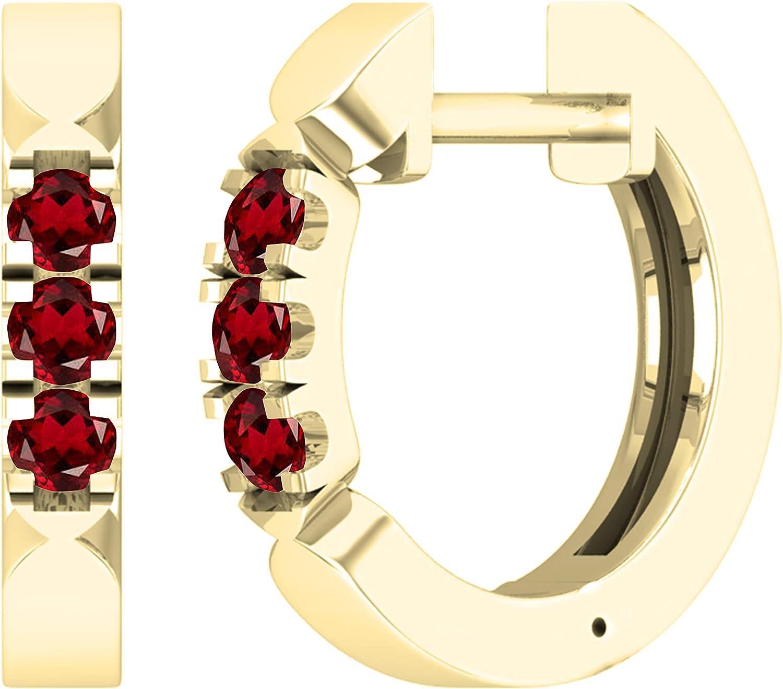 Dazzlingrock Collection Ladies 3 Stone Earrings Manufacturer direct delivery Huggies Hoop Av 2021