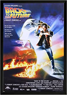 Back to The Future Framed Movie Poster Print 24x36. On a Black Frame. Made in USA.