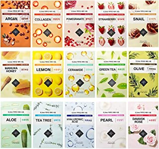 Best ETUDE HOUSE 0.2mm Therapy Air Mask Combo Pack (15pcs) | Korean Masks | Light and Comfortable Like the Air | Hypo-Allergenic Mask Sheet for Sensitive Skin Type Review