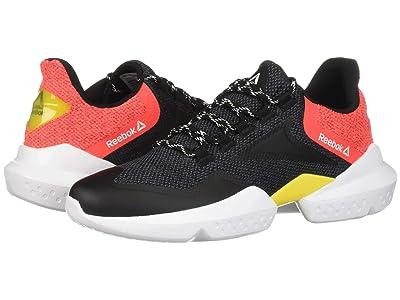 Reebok Split Fuel (Black/True Grey/Neon Red/Red/Go Yellow/White) Men