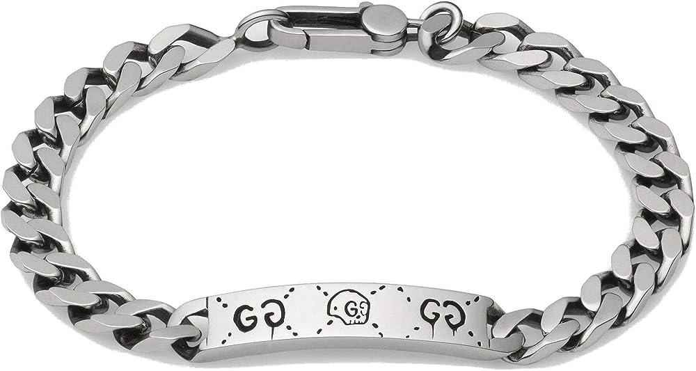 Gucci ghost, bracciale da donna,  in argento 925 l YBA455321001