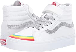 (Rainbow Toe Cap) True White/Silver
