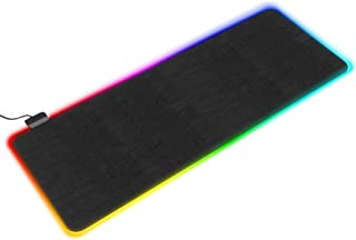 Bestier Large Desk RGB Gaming Mouse Mat - RGB Large Gaming Mouse Pad with 14 Lighting Modes, Non-Slip Rubber Base Mouse Pa...
