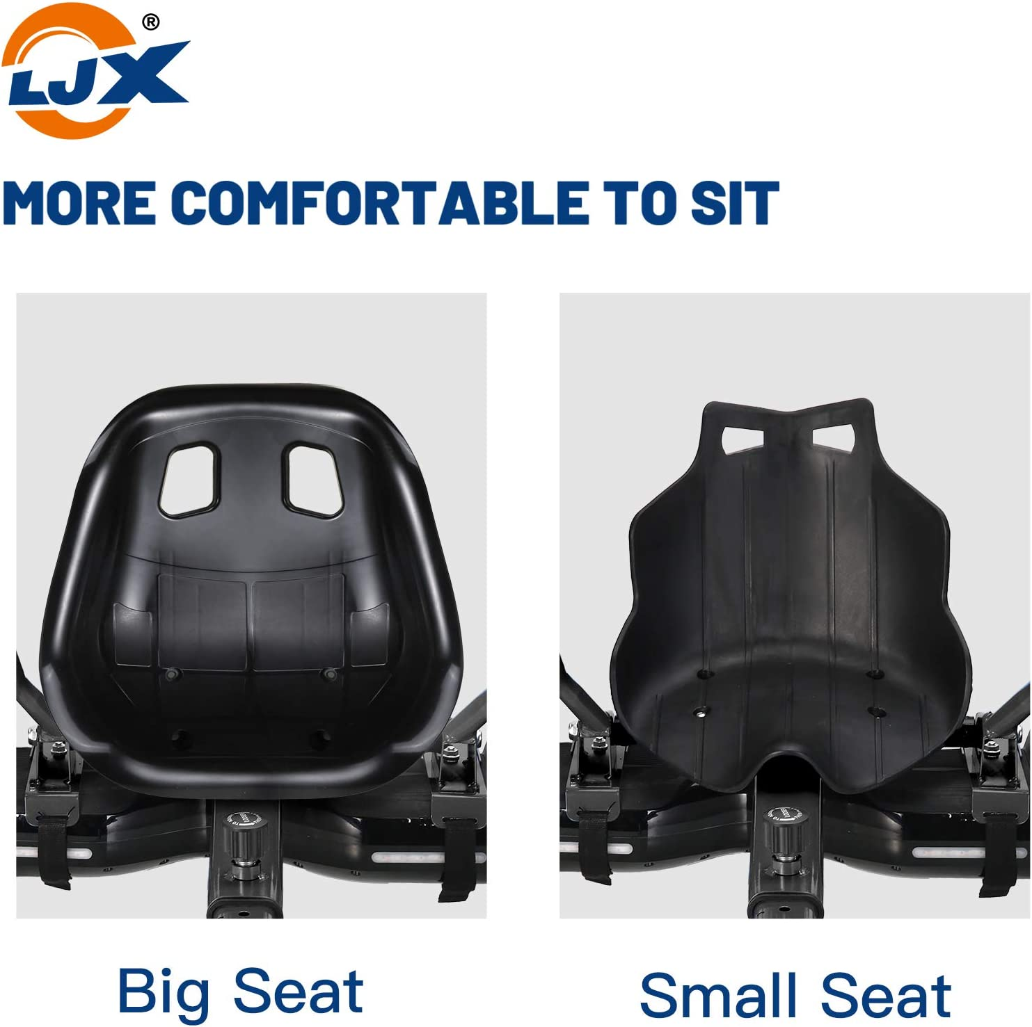 """Wider Seat LJX Hoverboard Seat Attachment Suitable for All Ages Hoverboard Accessories for 6.5/"""" 8/"""" 10/"""" Hoverboard Go Kart"""