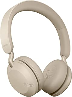 Jabra Elite 45h, Gold Beige – On-Ear Wireless Headphones with Up to 50 Hours of Battery Life, Superior Sound with Advanced...