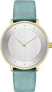 ساعات نسائية نسائية سيدة فستان عصري للنساء ساعة كاجوال حركة كوارتز حزام جلدي مقاوم للماء (خمسة ألوان) (اللون : C)
